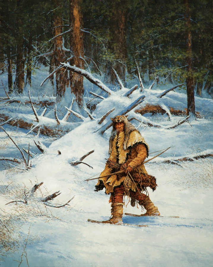 Woodland Indian hunting