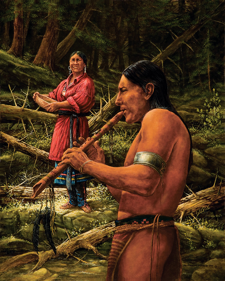COURTING OF THE WOODLAND INDIANS