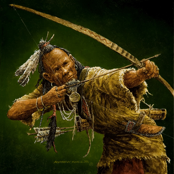 Woodland Indian with bow and arrow