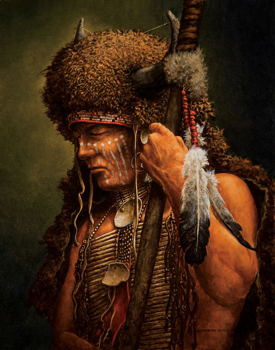 American Indian Preparing For Battle