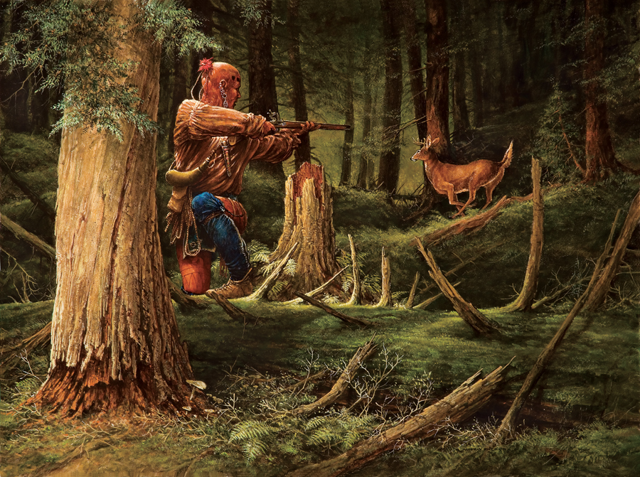 HUNTING OF THE WOODLAND INDIANS