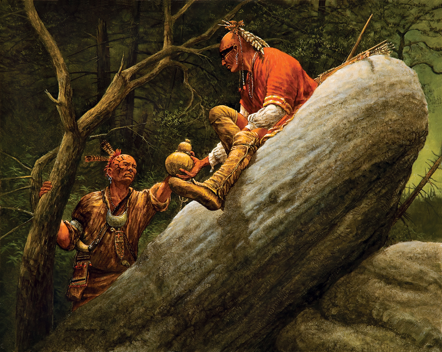 PAINTINGS OF WOODLAND INDIANS